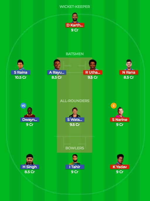 toady match prediction csk vs kkr 5th match dream11 team 1