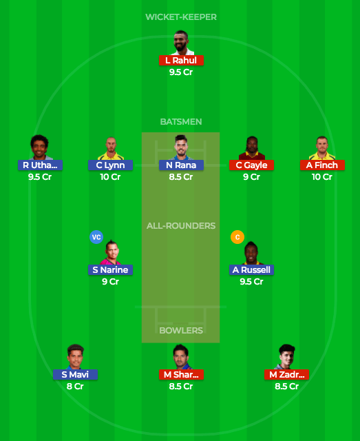 Dream11 team 3 prediction kkr vs kxip 18th match
