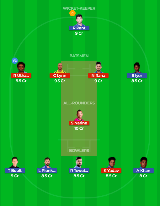 Today Dream11 Prediction KKR vs DD 26th T20 Match IPL 2018 2