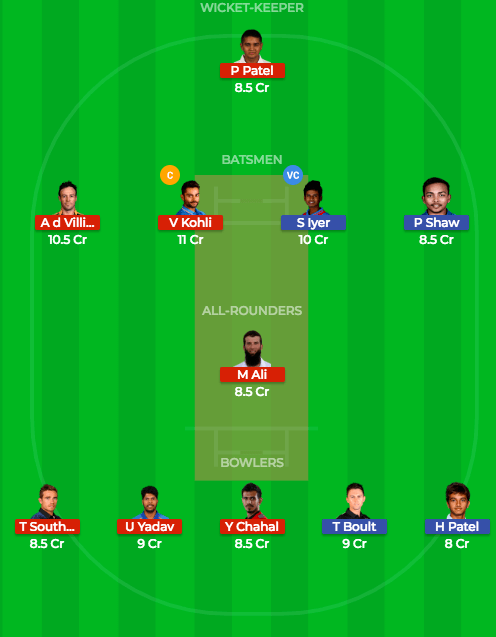 Today Dream11 Prediction RCB vs DD 45th T20 Match IPL 2018 2