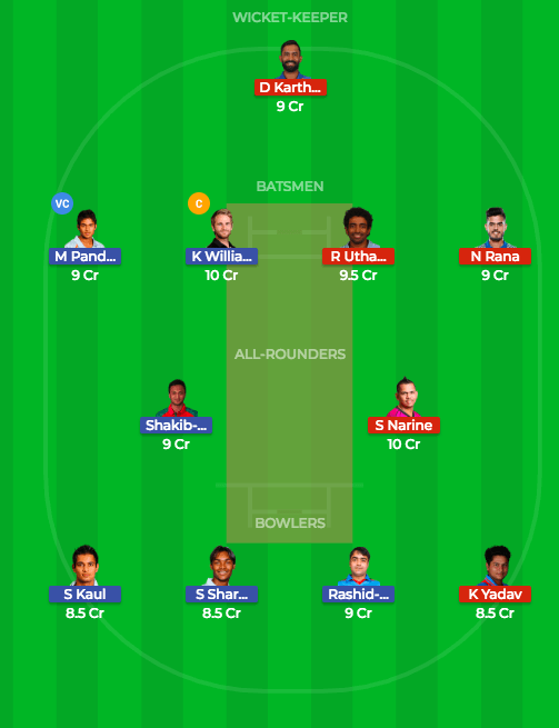 Today Dream11 Prediction KKR vs SRH 54th T20 Match IPL 2018 2