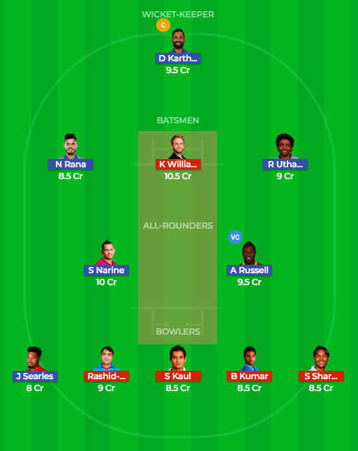 Today Dream11 Match Prediction of KKR vs SRH Qualifier 2 3