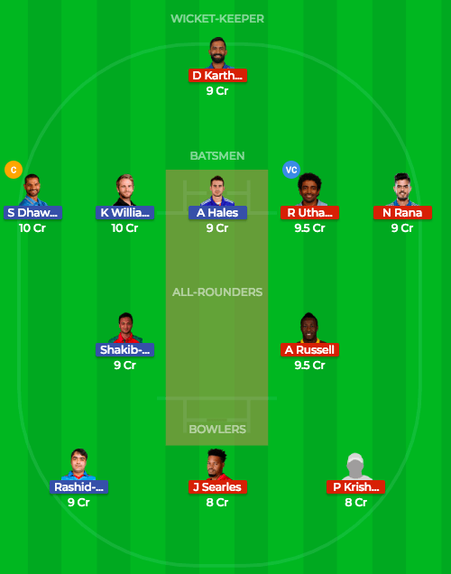 Today Dream11 Prediction KKR vs SRH 54th T20 Match IPL 2018 3