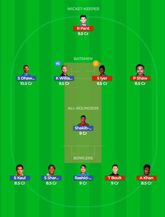 Today Dream11 Prediction SRH vs DD 36th T20 Match IPL 2018 3