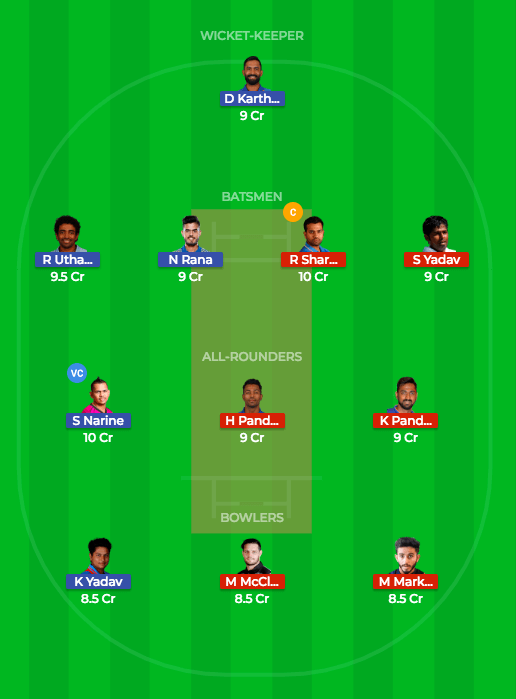 Today Dream11 Prediction MI vs KKR 41st T20 Match IPL 2018 1