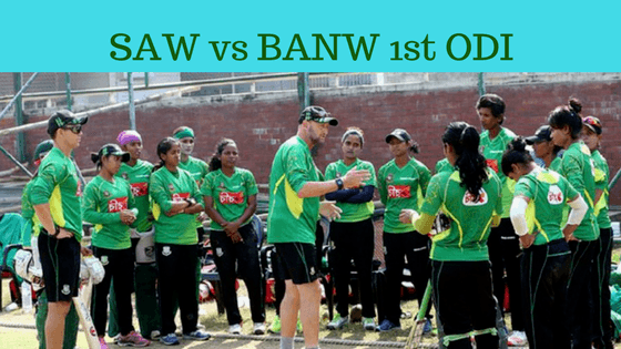 Today Dream11 Match Prediction- SAW vs BANW 1st ODI