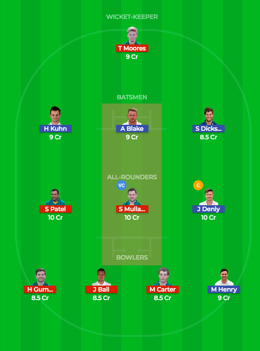 Today Dream11 Match Prediction NOT v KET Quarter Final 1 1
