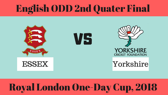 Today Dream11 Match Prediction ESS v YOR Quarter Final 2