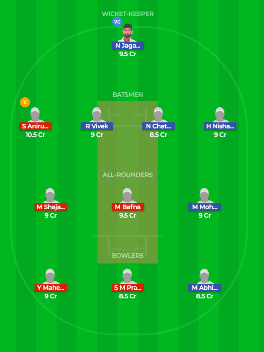 DIN vs KAR Dream11 Fantasy Match Prediction 21st T20 TNPL 5