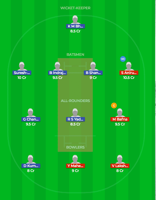 RUB v KAR Dream11 Fantasy Match Prediction 17th T20 TNPL 8