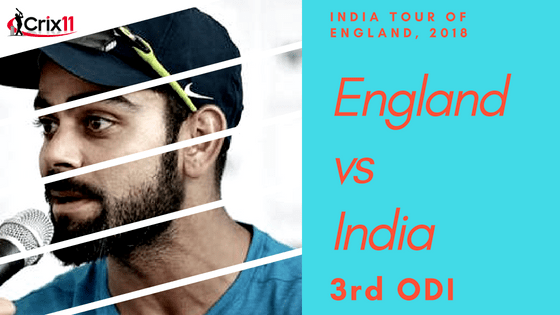 Today Dream11 Cricket Match Prediction of IND v ENG 3rd ODI