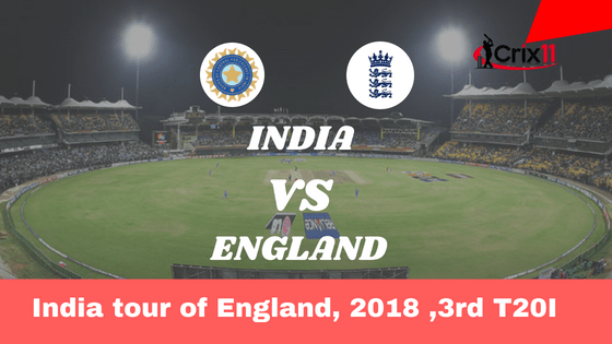 Today Dream11 Match Prediction of IND vs ENG 3rd T20