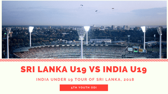 Today Match Prediction of IN-Y vs SL-Y 5th Youth ODI