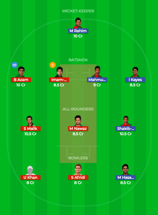 BAN vs PAK Dream11 Prediction