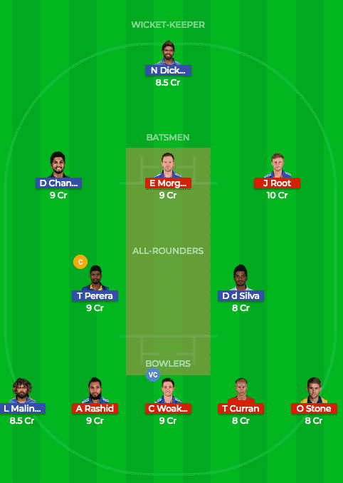 SL vs ENG Dream11 Prediction