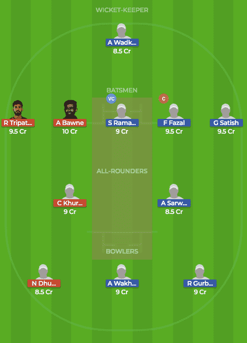 Today Dream 11 Prediction of VID vs MAH