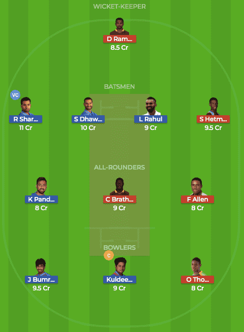 Today dream11 Prediction of IND vs WI 2nd T20I