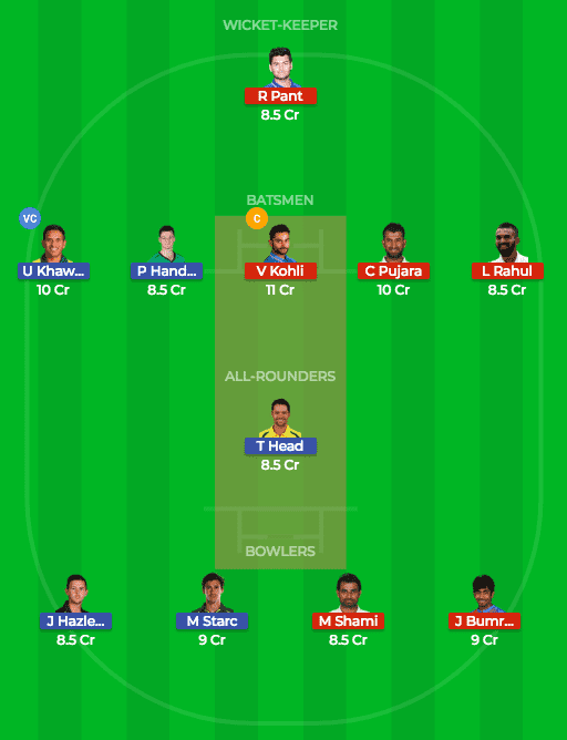 AUS vs IND Dream11 Prediction