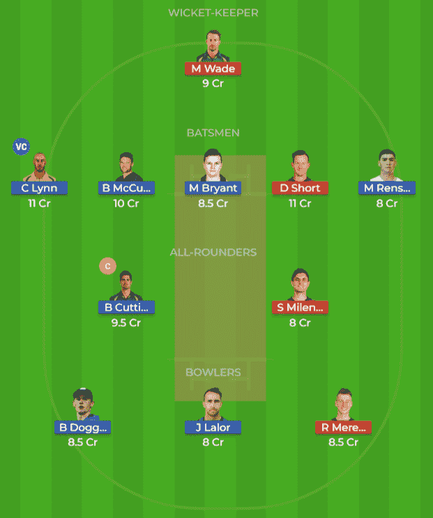 BRH vs HBH Dream 11