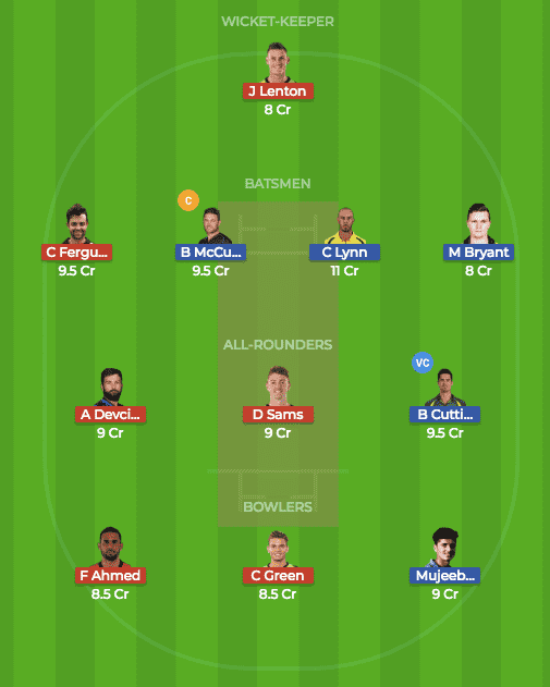 SDT vs BRH Dream 11
