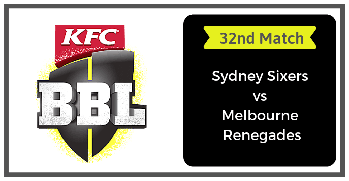 SDS vs MLR Dream11 Prediction & Playing 11 32nd Match BBL