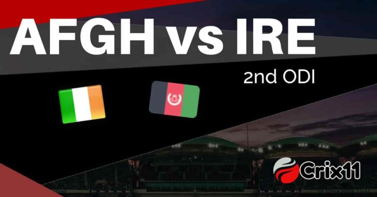 AFGH vs IRE Dream11 Match Prediction & Playing 11 2nd T20I