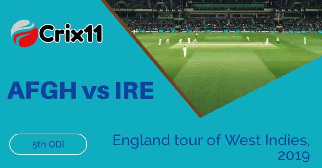 Today Match Prediction of AFG vs IRE 5th ODI