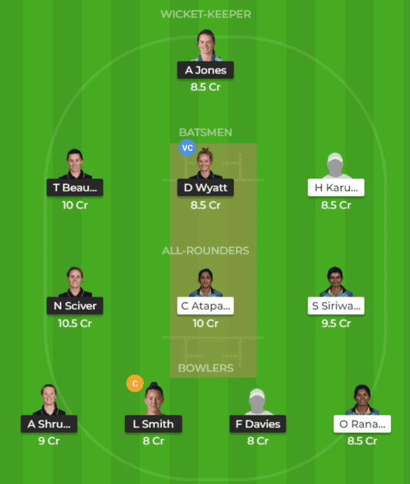 EN-W vs SL-W Dream11 Team Prediction 2nd T20