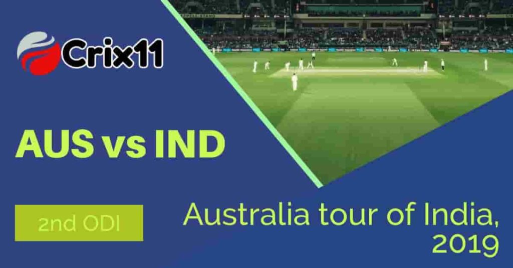 Today match Prediction of AUS vs IND 2nd ODI