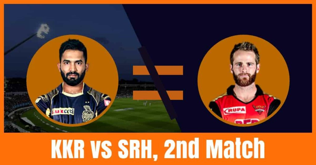 Today Match Prediction of KKR vs SRH 2nd Match IPL 2019