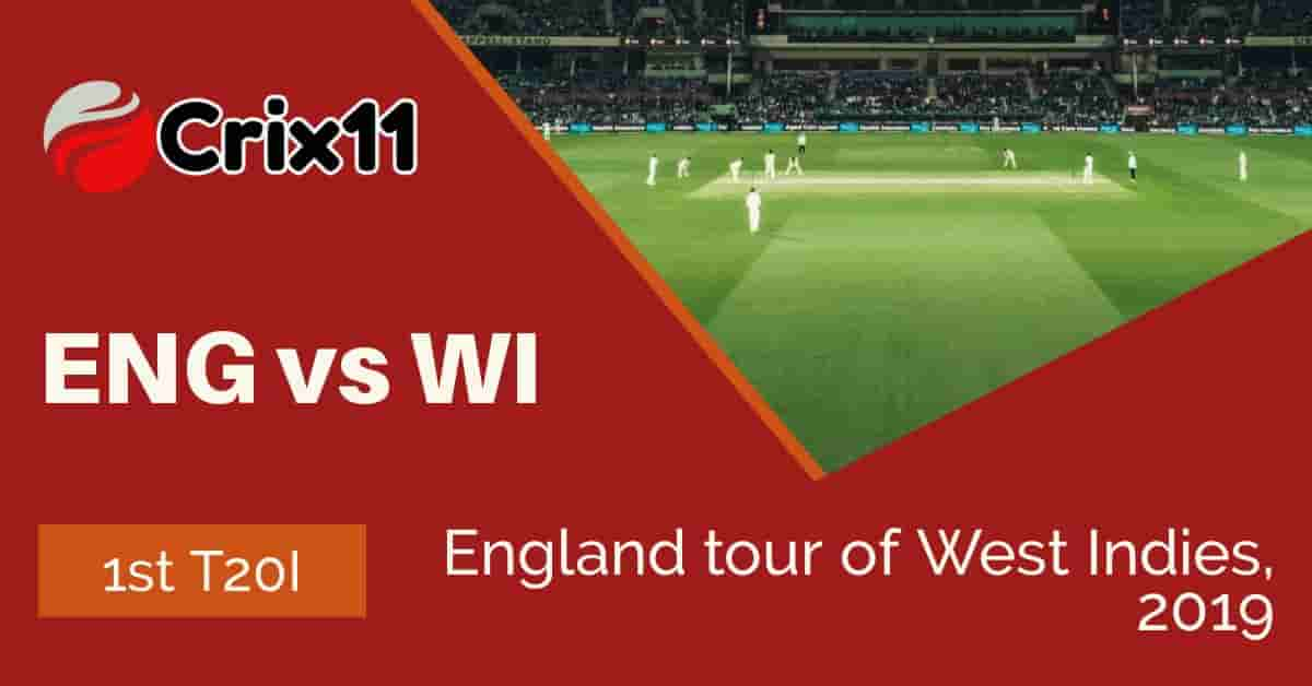 Today Match prediction of ENG vs WI 1st T20I