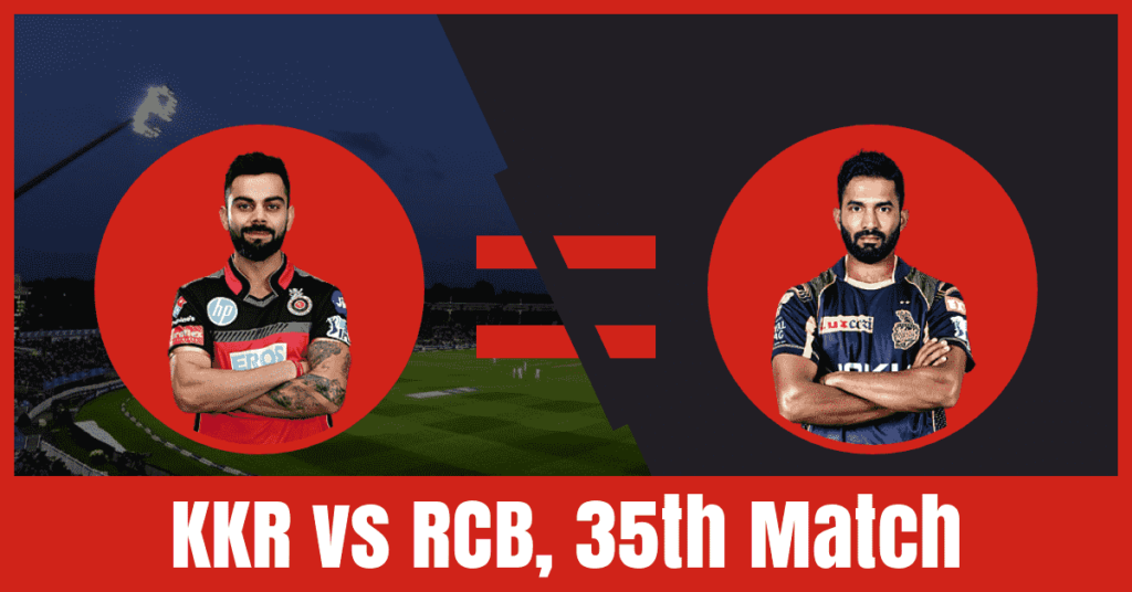 KKR vs RCB Dream11 Prediction of 35th Match