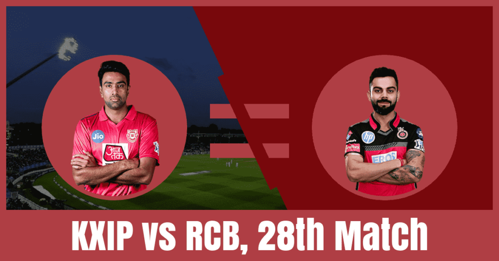 KXIP vs RCB Dream11 Prediction of 28th Match