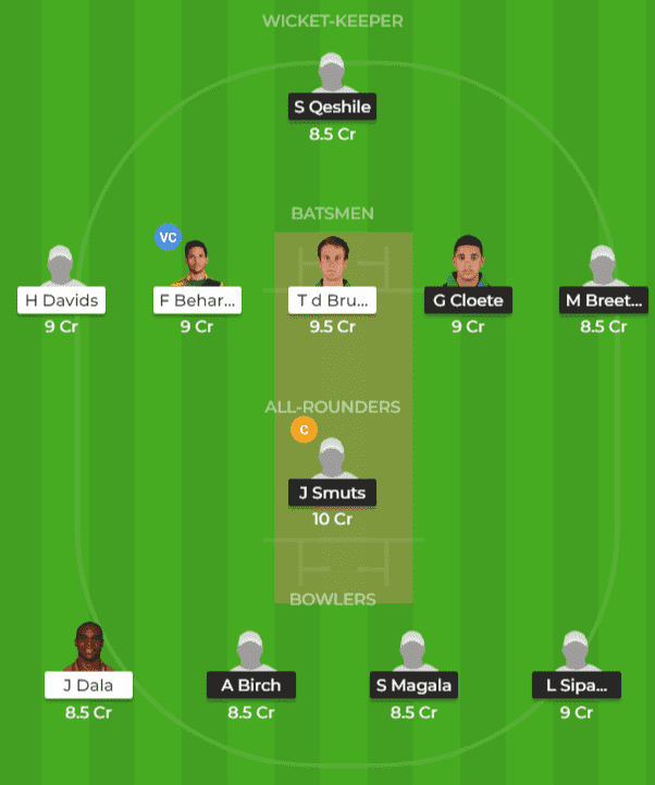 WAR vs TIT Dream11 Prediction 1st Match CSA T20
