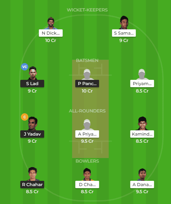 IN-A vs SL-A Dream11 TPrediction