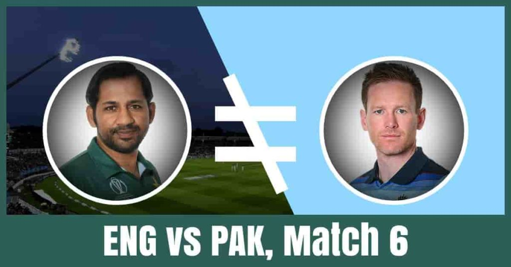 PAK vs ENG Dream11 Team Prediction of the 6th Match