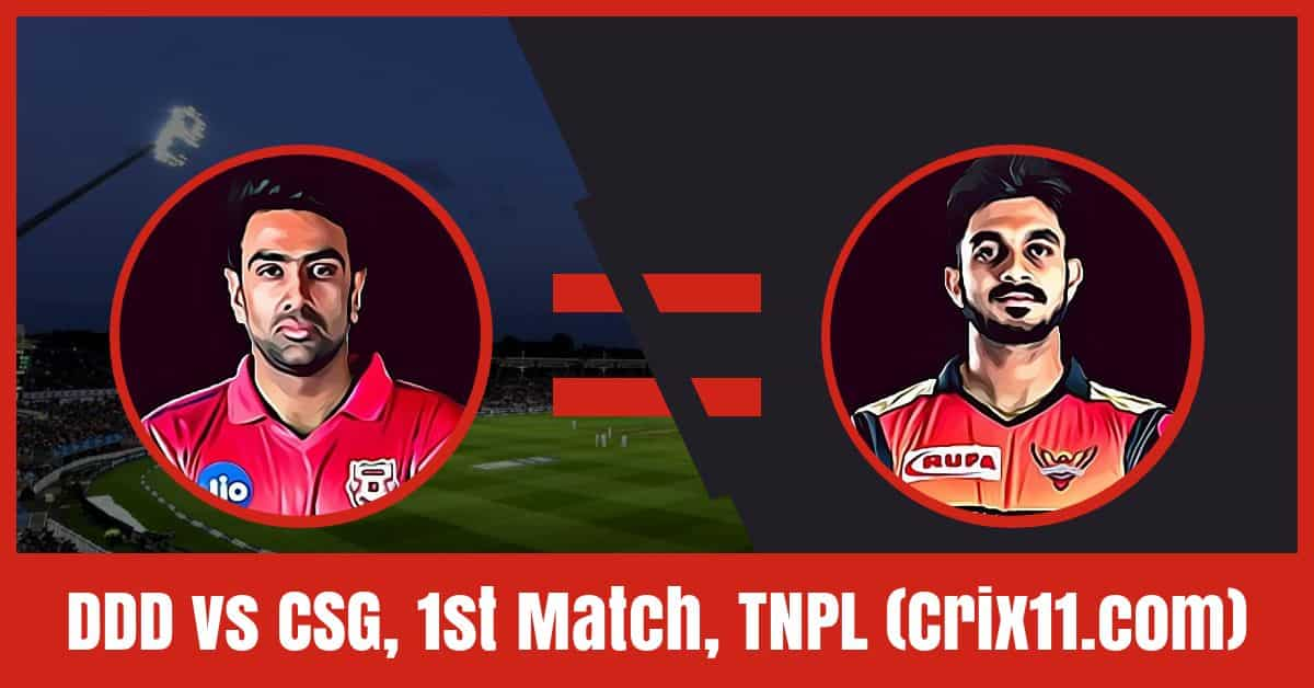 [Astrology/Expert Tips] on Today CHE vs DIN Dream11 Cricket Prediction & Playing 11, FREE Teams, Injury Updates of TNPL 2019 1st Match.