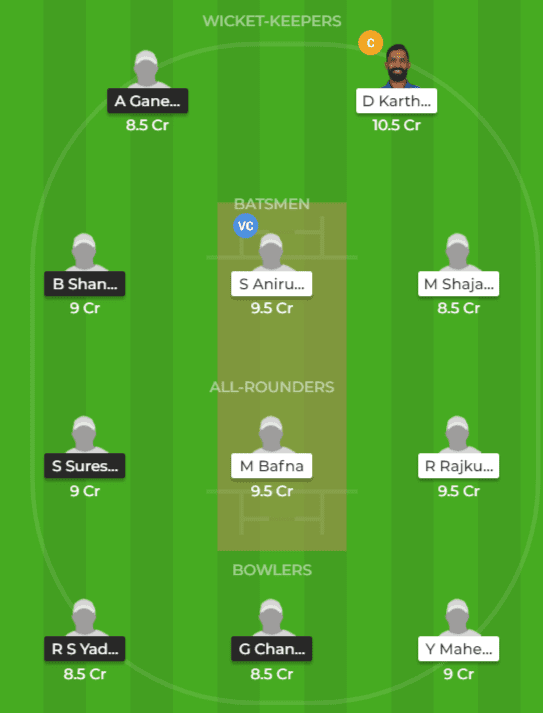 RUB vs KAR Dream11 Team Prediction