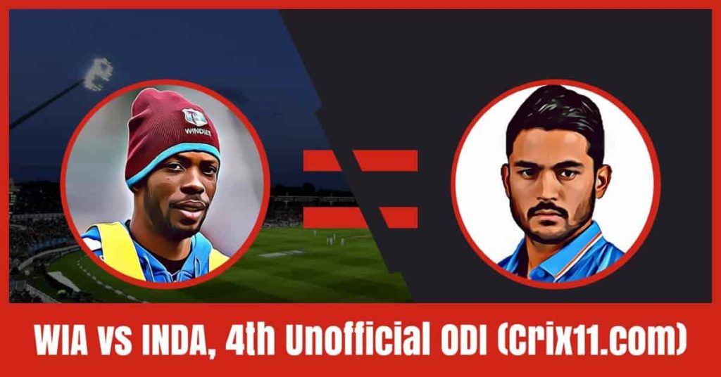 WIA vs INDA Dream11 Prediction, 4th Unofficial ODI