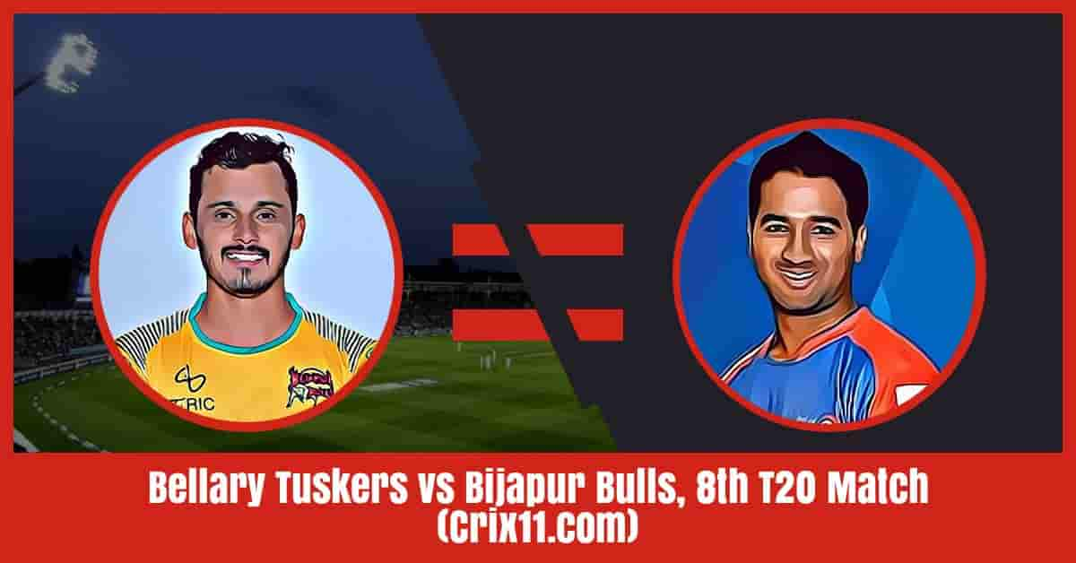 Bellary Tuskers vs Bijapur Bulls Dream11 Prediction, 8th T20 Match