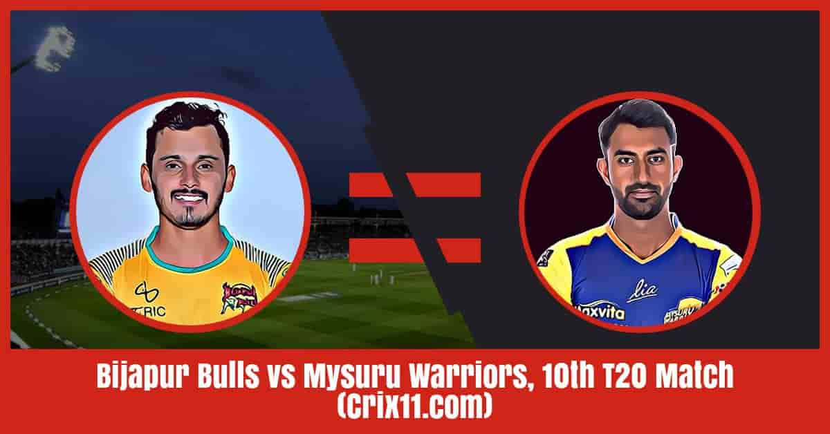 Bijapur Bulls vs Mysuru Warriors Dream11 Prediction, Match 10 KPL