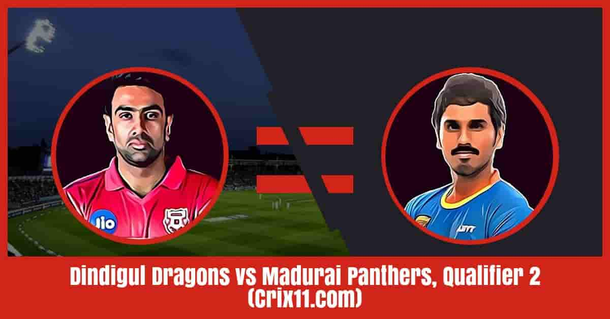 Dindigul Dragons vs Madurai Panthers Dream11 Prediction, Qualifier 2