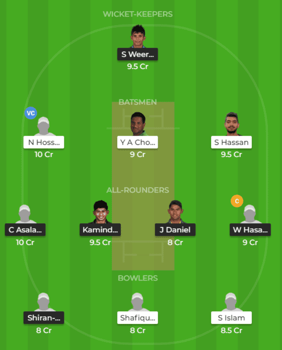 SL-ET vs BD-ET Dream11 Team Prediction