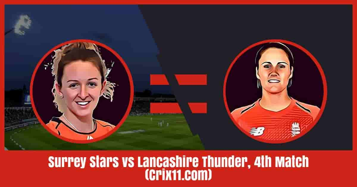 Surrey Stars vs Lancashire Thunder Dream11 Prediction, 4th Match