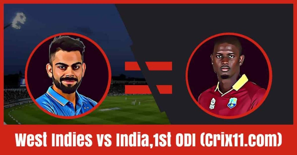 West Indies vs India Dream11 Prediction, 1st ODI
