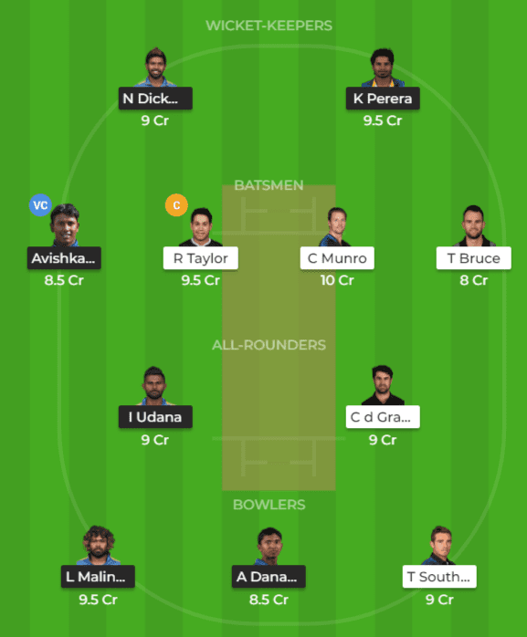 SL vs NZ Dream11 Team Prediction 3rd T20I