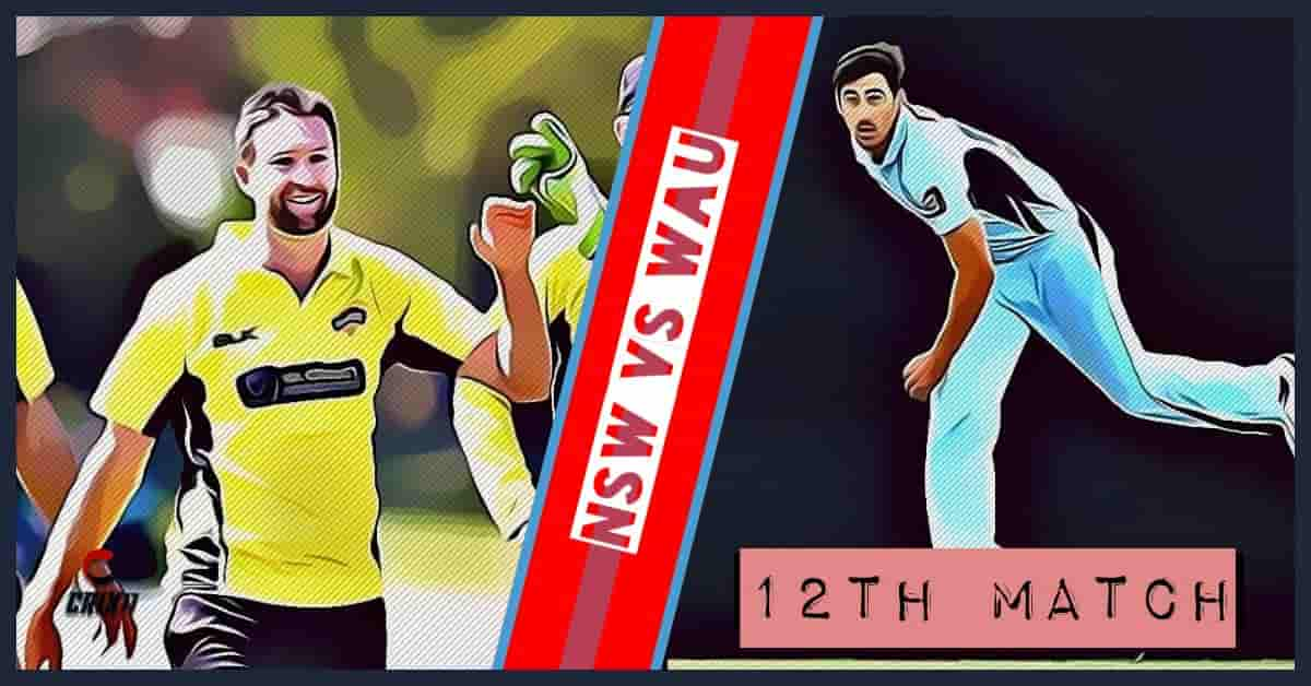 NSW vs WAU Dream11 Prediction 12th Match