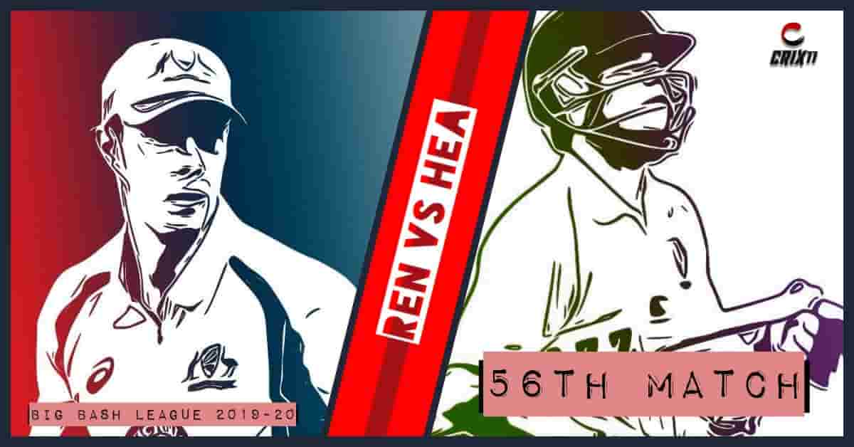 REN vs HEA Dream11 Prediction 56th Match Big Bash League 2019-20