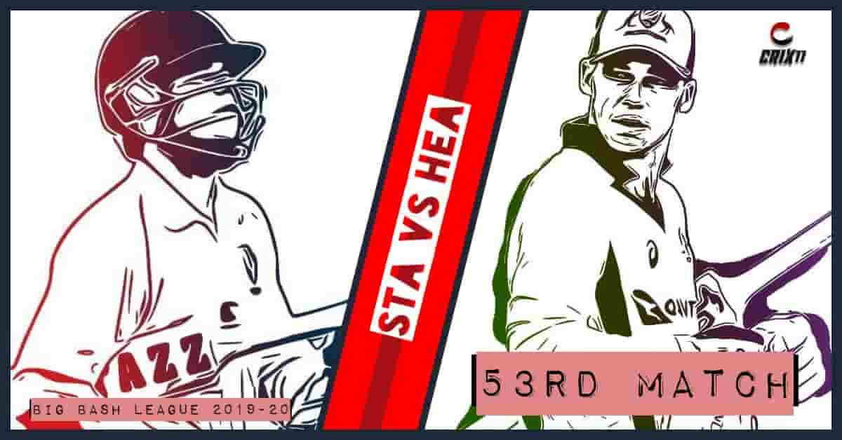 STA vs HEA Dream11 Prediction 53rd Match Big Bash League 2019-20